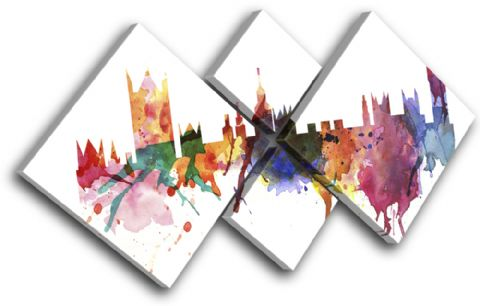 London Watercolour Abstract City - 13-6000(00B)-MP19-LO